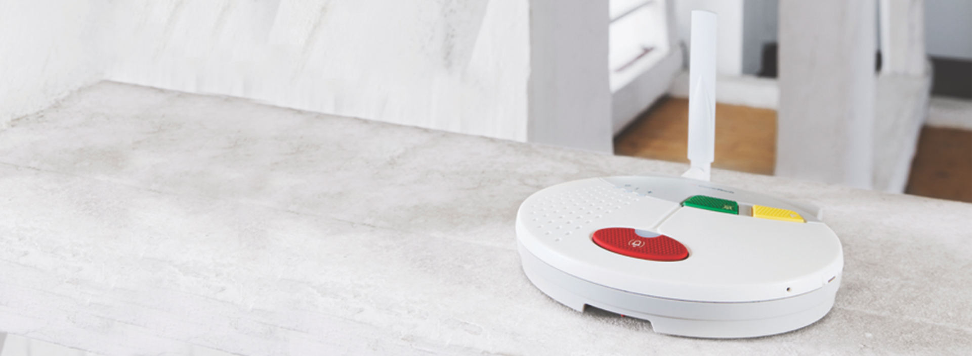 Doro CareIP IP carephone on counter top