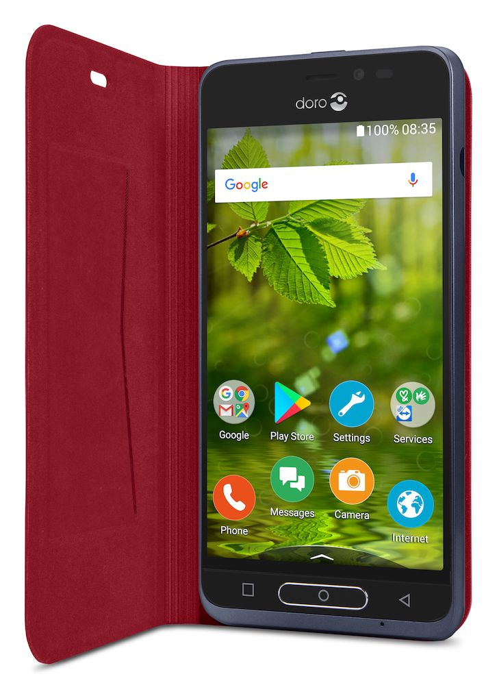 Flip Cover red 8035 android display right