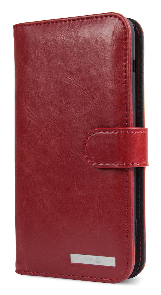 Wallet case Doro 8035 red closed right