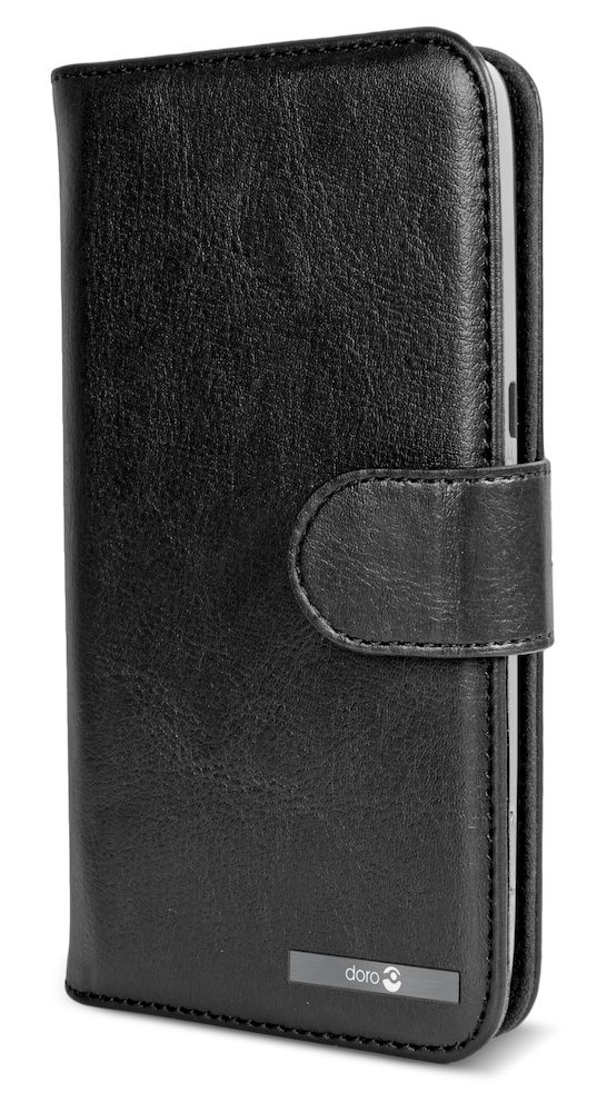 Wallet case Doro Liberto 822/8028/8030/8031 black closed right